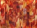 Art Glass tile panel RED ONYX